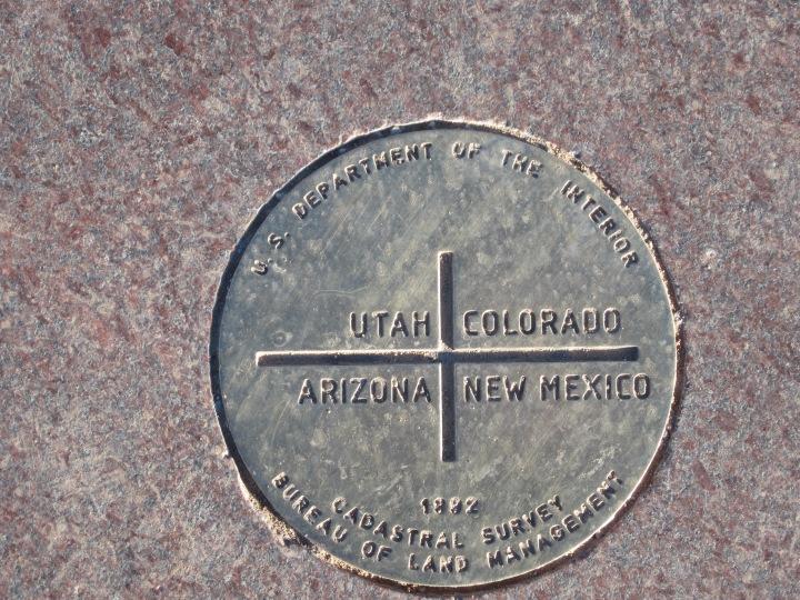 Four Corners Monument {Utah, Arizona, New Mexico, &Colorado}