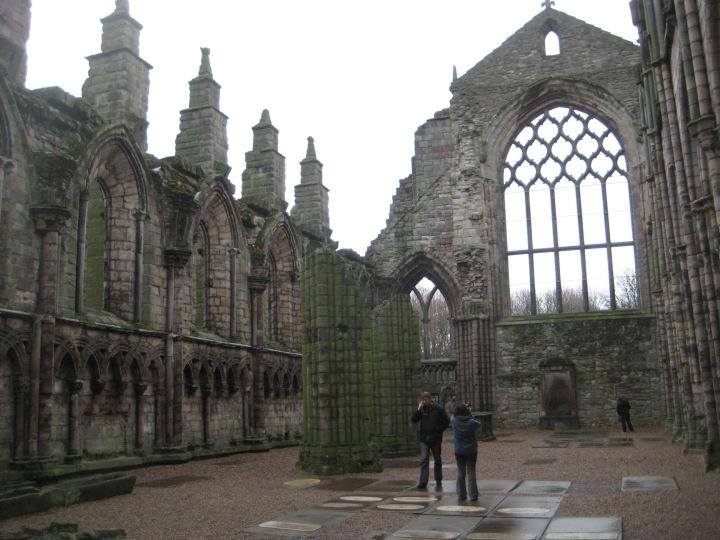 Palace of Holyroodhouse Abbey{Scotland}