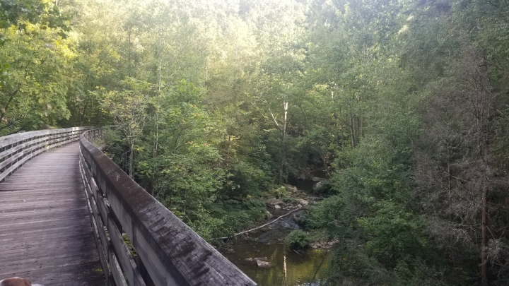 Walking Along The Rail Trail- Hawks Nest State Park {WestVirginia}